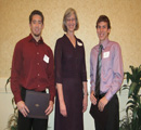 Loretta Hoerman presents awards to Kyle Steuber & Corey Wells
