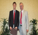 Jerry Weis presents award to Connor Brass