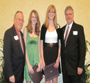 Sunny 102.5's Ken Jennison & John Anderson present to Courtney Estes & Libby Uthoff