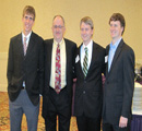 Pat Shriwise, Jim Neihart & Andrew Satterlee with faculty mentor John Schlup, chemical engineering