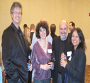 Katharine & Dr. Stefan Bossmann (middle) & Dr. Christer Aakeroy & wife Yasmin Patell, all from chemistry dept.