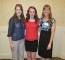 Awardee Jessica Long with supporters Mason & Nancy Wolfe