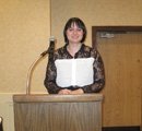 Past awardee Kristina Bigelow was our guest speaker.