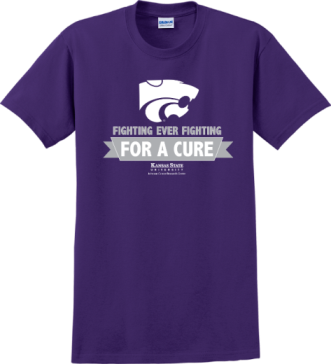 Fighting for a Cure shirt with white Powercat