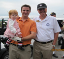 Rob Denell with son-in-law Rob Huether & granddaughter Maggie