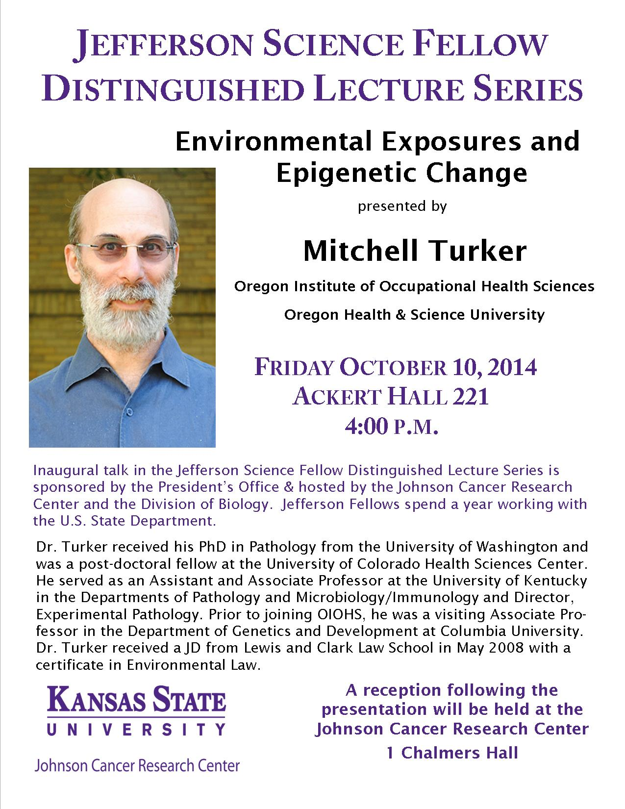 2014 Jefferson Science Fellow Distinguished Lecture by Dr. Mitchell Turker
